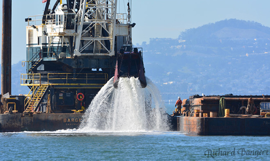 Dredging in the Bay