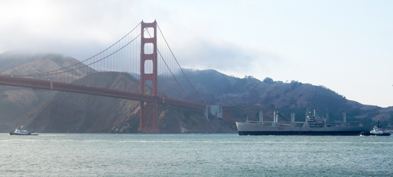 Cape Borda leaving SF Bay