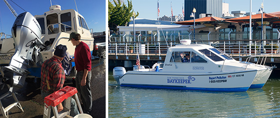 Baykeeper patrol boat