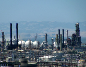 Chevron refinery in Richmond