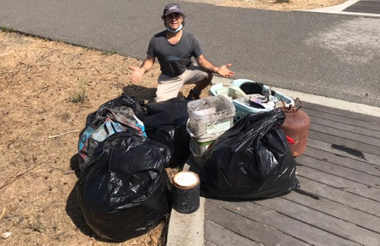 Eric at a cleanup