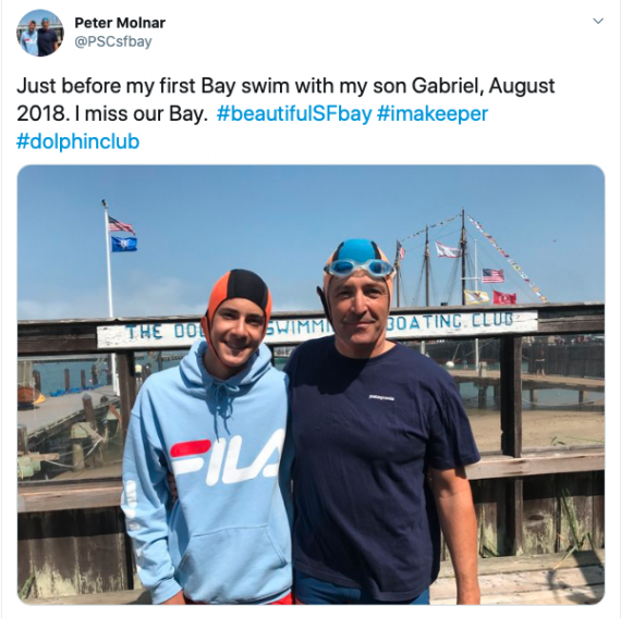 Swimmers by the Bay