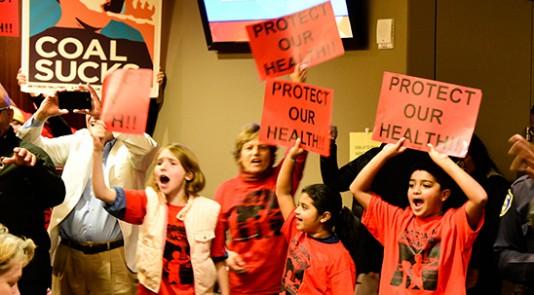 Coal protestors
