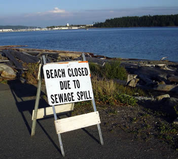 Sewage spill warning