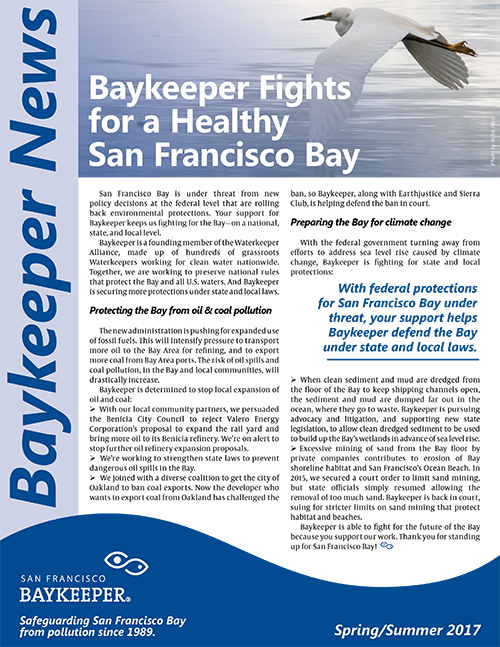 newsletters san francisco baykeeper