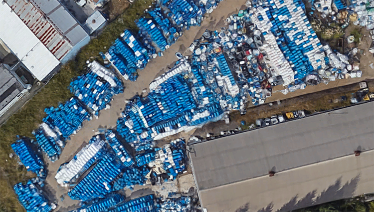 Aerial of Containers Unlimited from Google