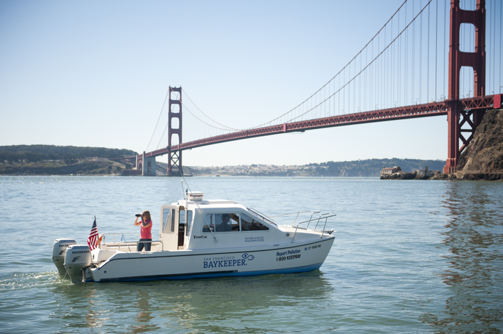 Baykeeper boat patrol on San Francisco Bay